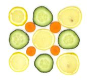 Sliced vegetables in composition royalty free stock photo