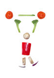Sliced vegetables figurine Royalty Free Stock Photos