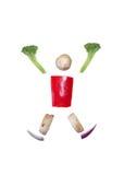 Sliced vegetables figurine Stock Photos