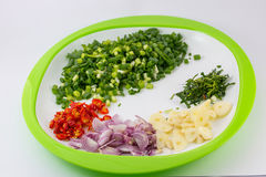 Sliced vegetables. Sliced vegetables ready to cook stock photography