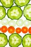 Sliced Vegetables on white Stock Photography