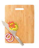 Sliced veggies on a board Royalty Free Stock Photography