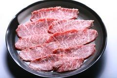 Sliced wagyu beef Stock Photo