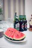 Sliced watermelon Stock Image