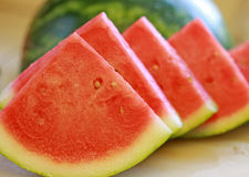 Sliced Watermelon Stock Photography