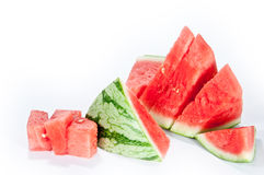 Sliced watermelon. A sliced Watermelon isolated on a white background stock photo