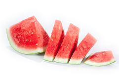 Sliced watermelon. A sliced Watermelon isolated on a white background stock photography