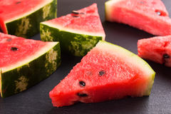 Sliced watermelon background Stock Photography