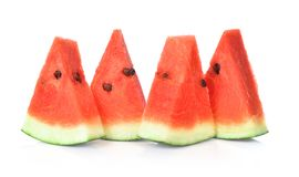 Sliced of watermelon isolated on white background. stock photography