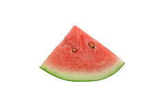 Sliced watermelon, isolated on white background, file includes clipping path. Royalty Free Stock Images