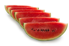 Sliced watermelon,  on white background Royalty Free Stock Photos