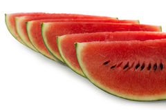 Sliced watermelon, on white background Royalty Free Stock Image