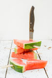 Sliced watermelons Stock Photos
