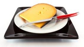 Sliced waxed cheese Royalty Free Stock Photo