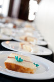 Sliced Wedding Cake Stock Images