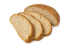 Sliced wheat bread with bran Royalty Free Stock Photos