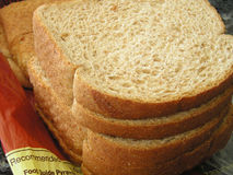Sliced wheat brerad. Sllices of wheat bread Royalty Free Stock Image