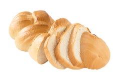 Sliced wheaten bread fully isolated Royalty Free Stock Photo
