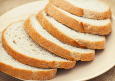 Sliced wheaten bread Stock Photo