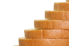 Sliced white  bread Royalty Free Stock Photo