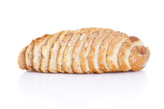 Sliced white bread. With white background Stock Images