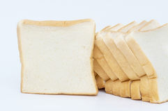 Sliced white bread Stock Image