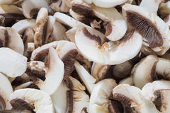 Sliced White Button Mushrooms Royalty Free Stock Photos