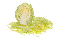 Sliced white cabbage Stock Photos