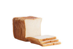 Sliced white loaf isolated on high key background Royalty Free Stock Photos