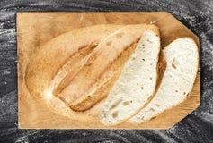 Sliced white long loaf Stock Images