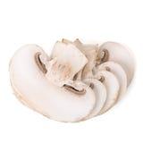 Sliced white mushroom pieces Royalty Free Stock Image