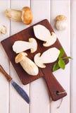 Sliced white mushrooms Royalty Free Stock Photography