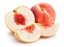 Sliced white peach royalty free stock image