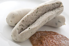 Sliced White Sausage Royalty Free Stock Image