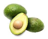 Avocado halves isolated on white background Royalty Free Stock Photography