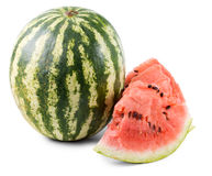Sliced and whole fresh watermelons Stock Photos