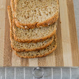 Sliced whole Grain Bread top view Stock Photo