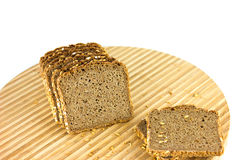 Sliced Whole Grain Bread Royalty Free Stock Photo