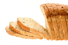 Sliced whole wheat bread Royalty Free Stock Images