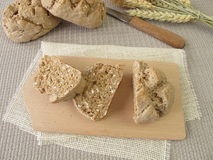 Sliced wholegrain rolls Royalty Free Stock Photography