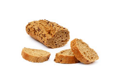 Sliced wholemeal baguette Royalty Free Stock Image