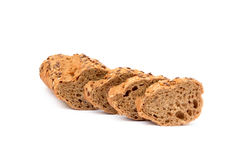 Sliced wholemeal baguette Stock Photography