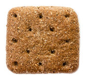 Sliced wholemeal rye bread isolated on a white background. Macro Stock Photos