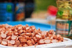 Sliced wiener Royalty Free Stock Photography