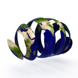 Sliced world Stock Photography