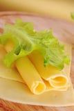 Sliced yellow cheese Stock Photo