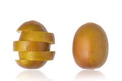 Sliced Yellow Kiwi Royalty Free Stock Images