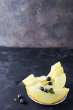 Sliced yellow melon Royalty Free Stock Photos