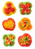 Yellow and red bell pepper Royalty Free Stock Photography