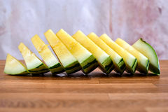 Sliced yellow watermelon Royalty Free Stock Photography